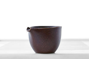Maroon Glazed Hemisphere Tea Pitcher