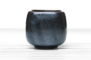 Dark Grey Cubical Tea Bowl