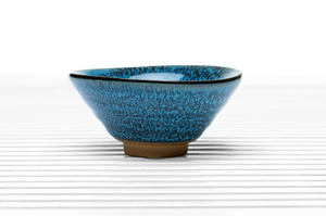 Conical Tea Bowl With Dark Blue