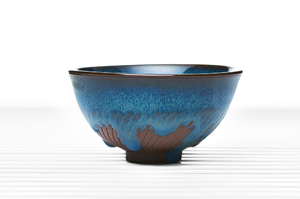 Hemisphere Tea Bowl With Blue Glaze
